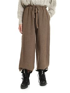 Y's Yohji Yamamoto - Brown trousers with raw cut details