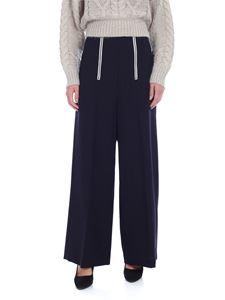Y's Yohji Yamamoto - Y's Pink blue palazzo trousers with front zip