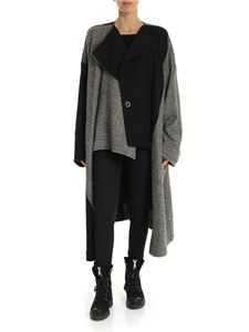 Y's Yohji Yamamoto - Black and ivory coat in bouclé fabric