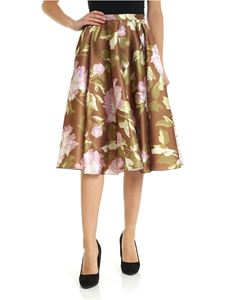 Rochas - Passiflor skirt in brown