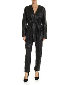 Iro - Madryn jumpsuit in black leather