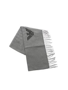 Emporio Armani - Grey pashmina with fringes