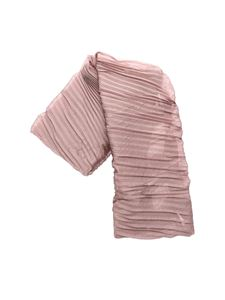 Emporio Armani - Pleated scarf in antique pink color
