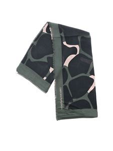 Emporio Armani - Green blue and pink scarf with logo