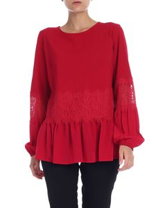 Twin-Set - Red blouse with lace details