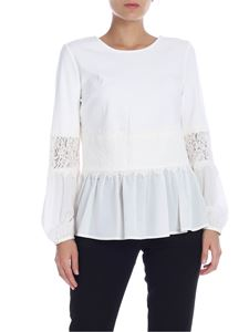 Twin-Set - White blouse with lace details