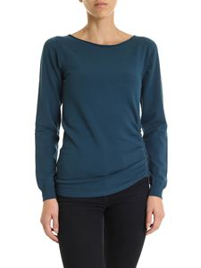 Twin-Set - Sweater in  teal blue color with side zip