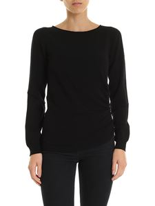 Twin-Set - Black sweater with side zip