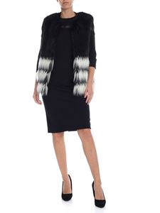 Twin-Set - Black and white sleeveless eco-fur
