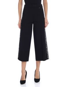 Twin-Set - Crop trousers with lace detail