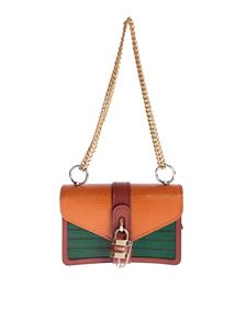 Chloé - Aby chain shoulder bag in orange and green