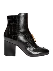 Chloé - Cocco printed ankle boots in black