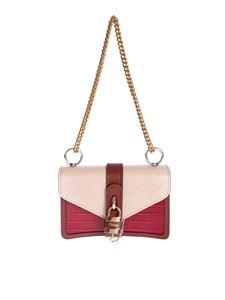 Chloé - Aby chain shoulder bag in pink and red