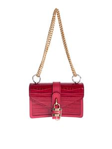 Chloé - Aby chain shoulder bag in Dusky Red