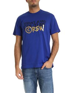 Versace - Versace Jeans Couture T-shirt blu con stampa logo