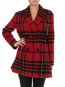 Etro - Checked double-breasted coat in red