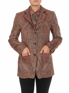 Etro - Pailsey single breasted jacket in shades of red