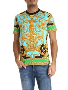Versace - Barocco Homme T-shirt in blue and black
