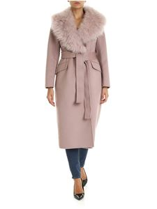 Prada - Pink coat with fur collar