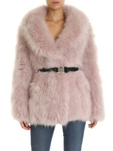 Prada - Pink lined fur coat