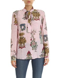 Red Valentino - Pink blouse with Chinese Lackey print
