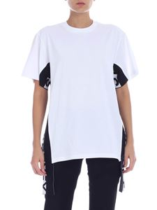 Stella McCartney - White T-shirt with branded bands