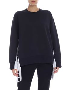Stella McCartney - Black sweatshirt with branded bands