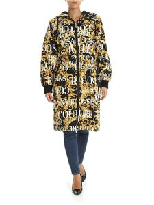 Versace Jeans Couture - Logo Baroque overcoat in black