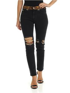Versace Jeans Couture - Black jeans with chain detail