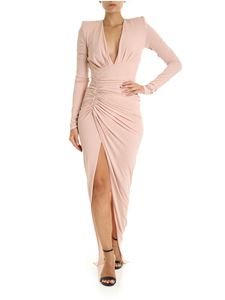 Alexandre Vauthier - Pink dress with side gathering