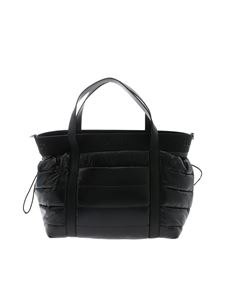 Moncler Jr - Black quilted mama's bag