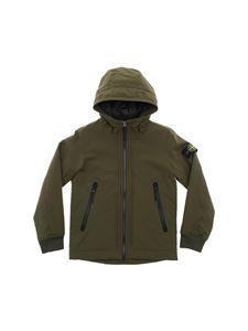 Stone Island Junior - Army green padded jacket in Primaloft