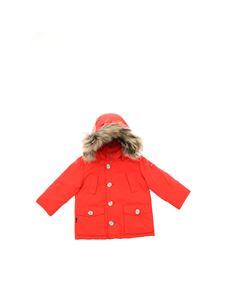Woolrich - My First Parka down jacket in red