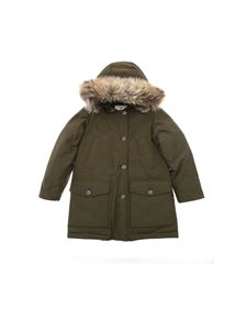 Woolrich - Parka Df down jacket in Army green color