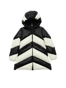 Moncler Jr - Faucille down jacket in white and black
