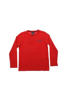 Emporio Armani - Red long sleeve t-shirt with logo