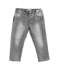 Emporio Armani - Gray jeans with elastic at the waist