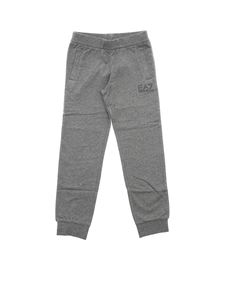 Emporio Armani - Grey fleece pants with logo print
