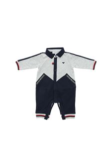 Emporio Armani - Blue and grey romper suit with logo