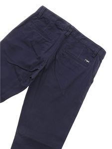 Emporio Armani - Blue trousers with metal logo