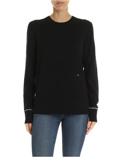 Calvin Klein - Black pullover with logo embroidery