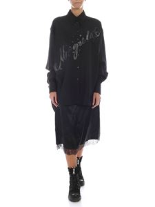 MM6 Maison Margiela - Black shirt dress with removable skirt