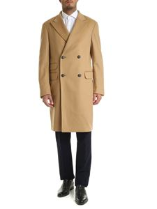 Z Zegna - Camel-colored double-breasted coat
