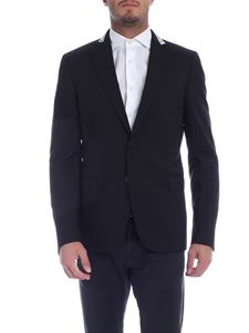 Moschino - Black jacket with logo on the lapels