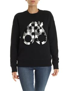 Moose Knuckles - Black sweatshirt with front logo