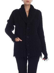 Alanui - Fringed cardigan in black