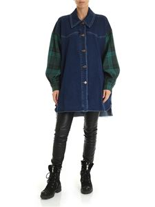 See by Chloé - Blue oversized shirt with contrasting sleeves