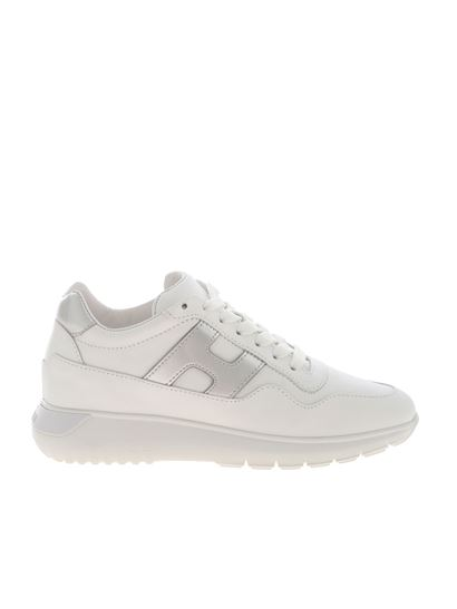 Hogan Fall Winter 19/20 371 interactive sneakers in white ...