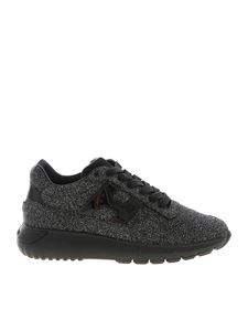 Hogan - H371 black sneakers with glitter