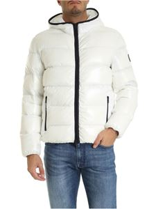 Fay - White down jacket crumpled effect